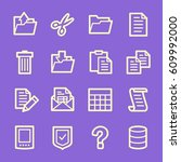 document web icons set | Shutterstock .eps vector #609992000