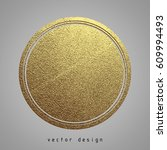 vector illustration. gold... | Shutterstock .eps vector #609994493