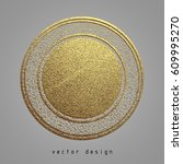 vector illustration. gold... | Shutterstock .eps vector #609995270
