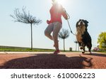 young pretty girl running... | Shutterstock . vector #610006223