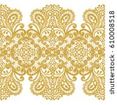 seamless pattern. golden... | Shutterstock . vector #610008518