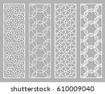 abstract cutout panels for... | Shutterstock .eps vector #610009040