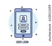 illustration of user login ui...