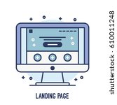 illustration of landing page on ...
