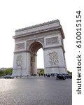 view of arch of triumph  paris  ... | Shutterstock . vector #610015154