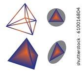 tetrahedron | Shutterstock .eps vector #610016804