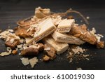 wafers and cookies | Shutterstock . vector #610019030
