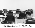 university lecture chairs and...   Shutterstock . vector #610020164