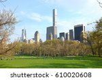 panoramic view of central park | Shutterstock . vector #610020608