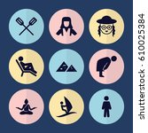 set of 9 people filled icons... | Shutterstock .eps vector #610025384