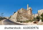 tower of david and jerusalem... | Shutterstock . vector #610030976