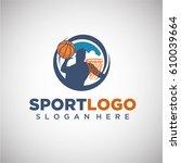 sport basketball logo template... | Shutterstock .eps vector #610039664