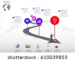 infographic design vector and...   Shutterstock .eps vector #610039853