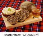 scottish haggis   burns night | Shutterstock . vector #610039874