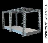 steel truss girder rooftop... | Shutterstock . vector #610040318