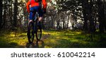 cyclist riding the bike on the... | Shutterstock . vector #610042214