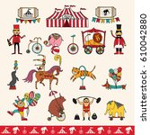 set of hand drawn icons on a... | Shutterstock . vector #610042880