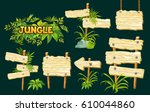 cartoon game panels in jungle... | Shutterstock .eps vector #610044860