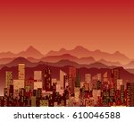 abstract city  cityscape... | Shutterstock .eps vector #610046588