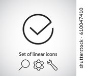 check  linear icon. one of a...
