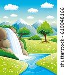 Beautiful Waterfall And...