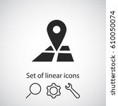 pin on the map icon. one of set ...   Shutterstock .eps vector #610050074