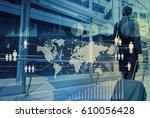 worldwide business concept ... | Shutterstock . vector #610056428