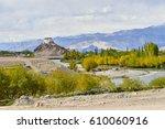 mountain landscape of leh ... | Shutterstock . vector #610060916
