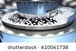 process of production of pills  ... | Shutterstock . vector #610061738