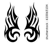 tattoo sketch tribal vector...   Shutterstock .eps vector #610065104