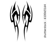 tattoo tribal vector designs.... | Shutterstock .eps vector #610065164