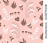 seamless floral  pattern | Shutterstock .eps vector #610070108