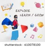education knowledge explore...   Shutterstock . vector #610078100