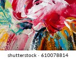painted abstract background  | Shutterstock . vector #610078814