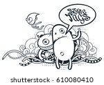 graffiti doodle art. vector...   Shutterstock .eps vector #610080410