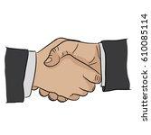 hand gesture | Shutterstock .eps vector #610085114