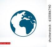 globe icon  vector illustration ...   Shutterstock .eps vector #610086740