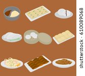 printset of chinese food flat...   Shutterstock .eps vector #610089068