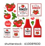 set of template labels for... | Shutterstock .eps vector #610089830