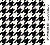 houndstooth checkered fashion... | Shutterstock .eps vector #610093670