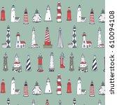 vector pattern of cartoon...   Shutterstock .eps vector #610094108