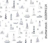 vector pattern of cartoon...   Shutterstock .eps vector #610094114