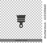 paint brush icon. flat... | Shutterstock .eps vector #610100660