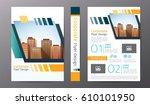 business brochure or flyer... | Shutterstock .eps vector #610101950