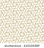 abstract geometric pattern with ... | Shutterstock .eps vector #610104389