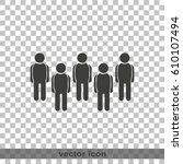 illustration of crowd of people. | Shutterstock .eps vector #610107494
