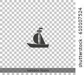 sailfish boat icon. | Shutterstock .eps vector #610107524