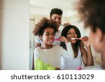 photo of happy afro american... | Shutterstock . vector #610113029