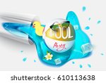 pool party  background with...   Shutterstock .eps vector #610113638
