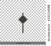 illustration of road sign. | Shutterstock .eps vector #610114088